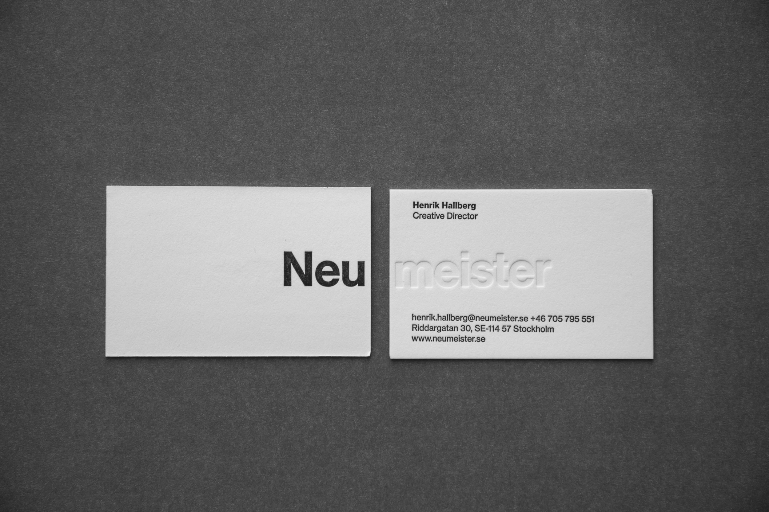 Business cards for Neumeister