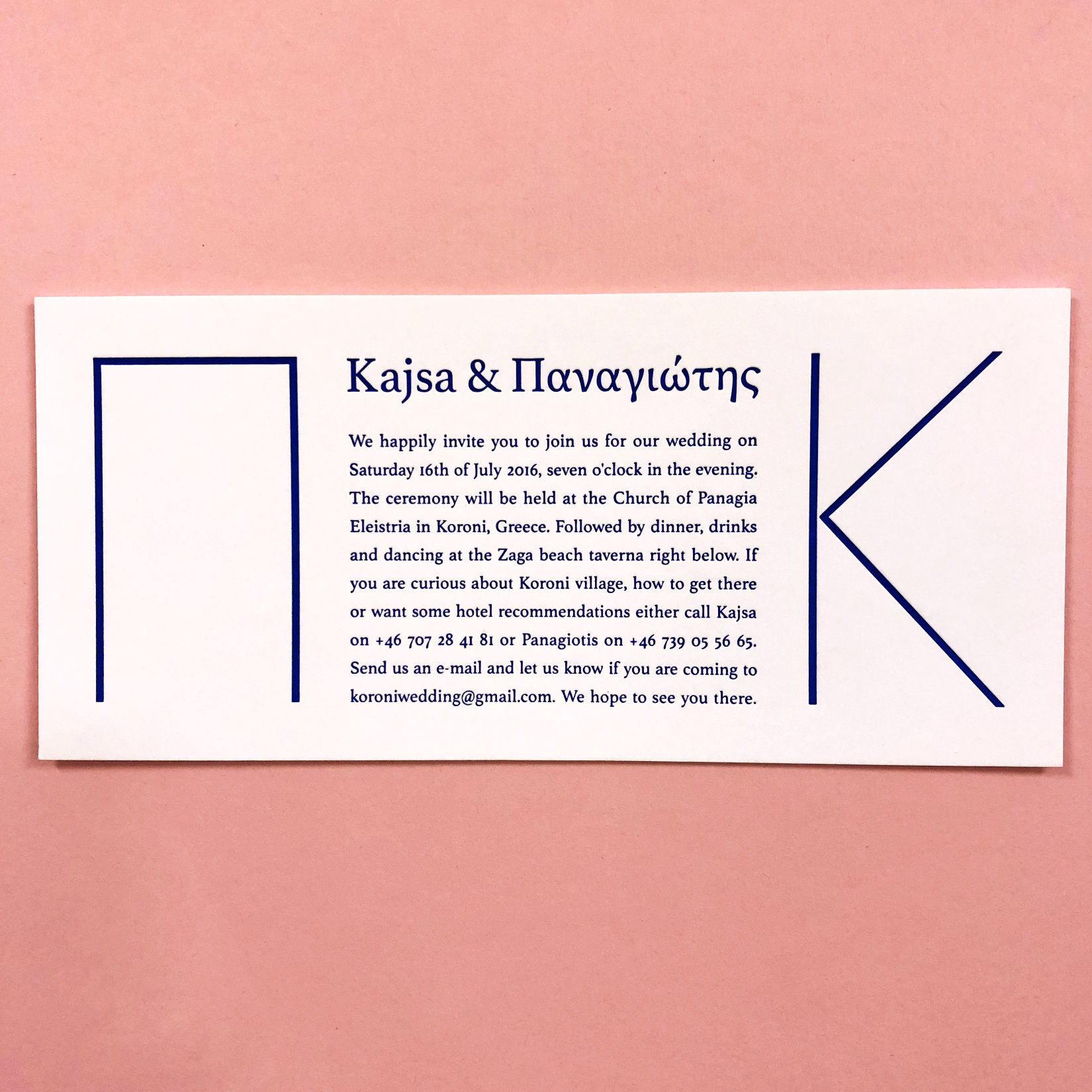 Bröllopsinbjudningar / Wedding invitations.
